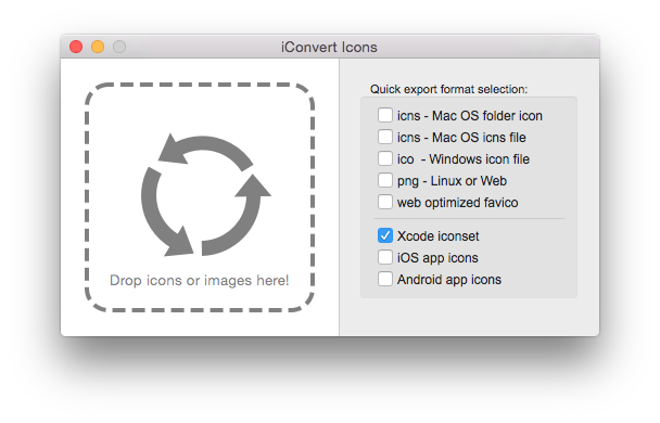 Create and ico icns. Convert files to png