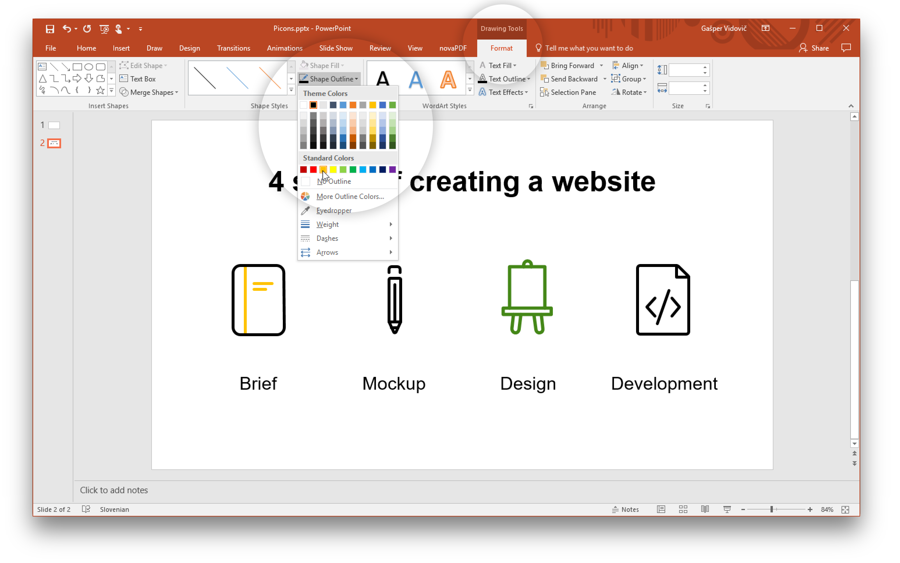 Convert png to vector. Using icons in powerpoint