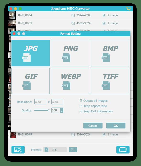 Joyoshare introduces heic converter. Convert tiff to png windows