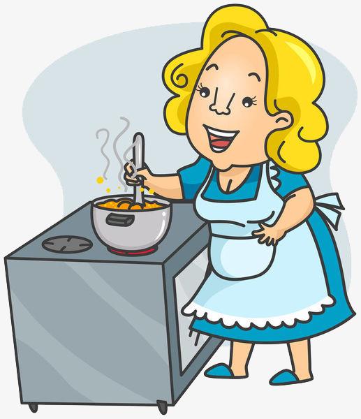 Mama cartoon fire flame. Cook clipart