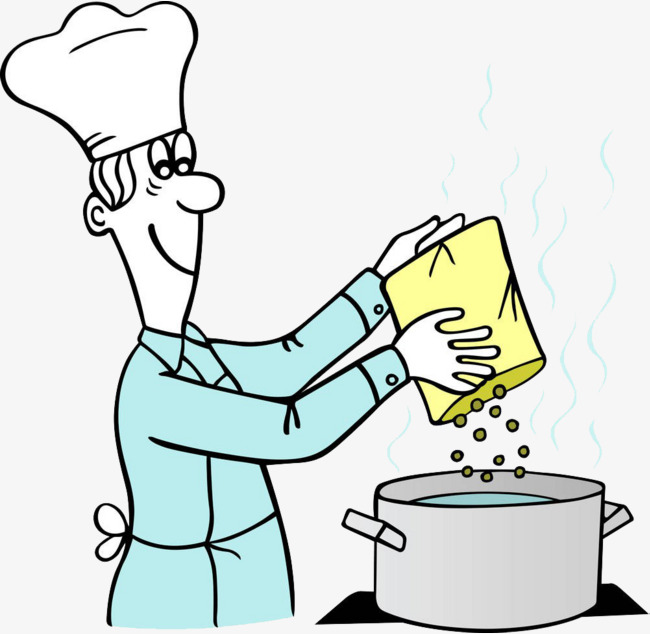 Cook clipart. The cooks chef cooking