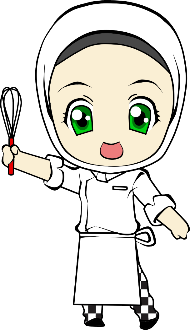 Lady clipart chef. Cartoon girl adorable with