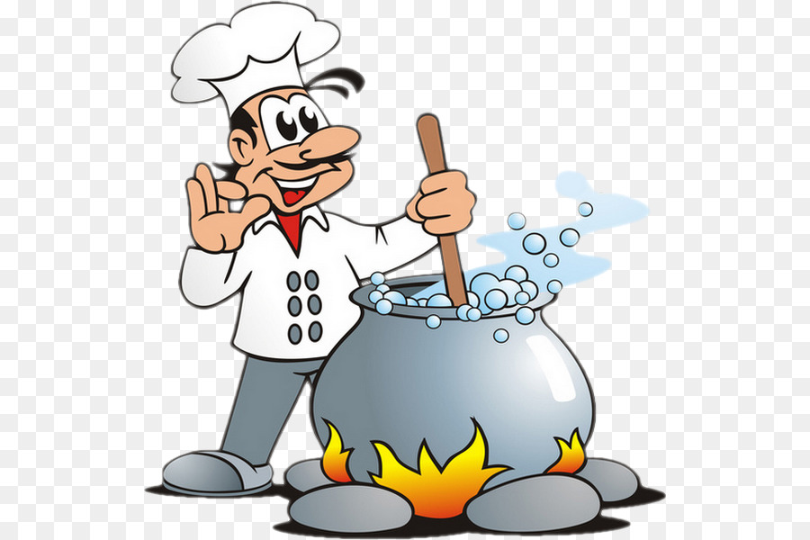 Chef cartoon cook soup. Cooking clipart animated