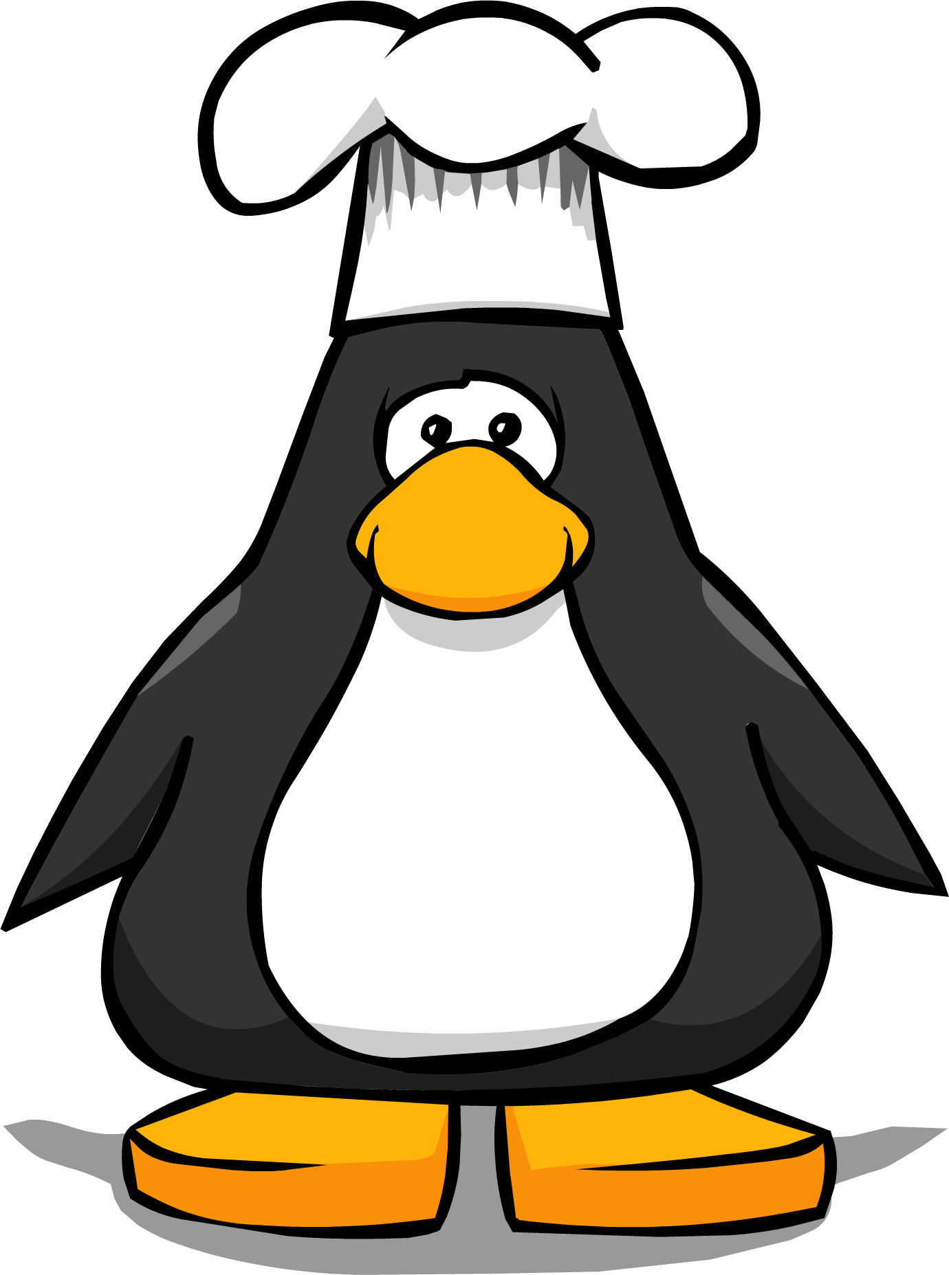 Mask clipart penguin. Chef hat club wiki