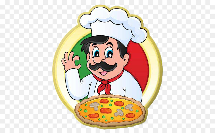 Pizza chef transparent clip. Cooking clipart bawarchi
