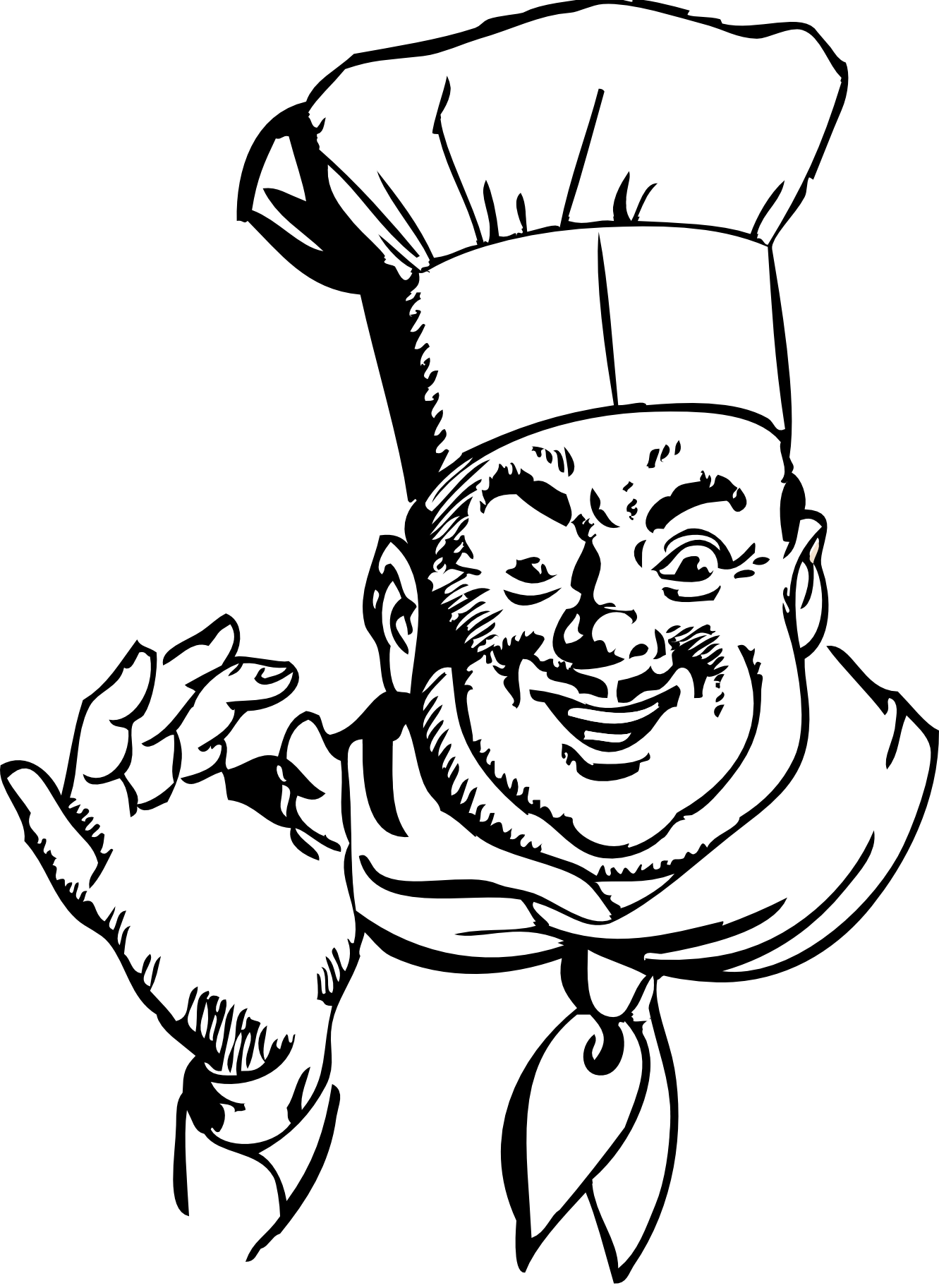 Cooking clipart bawarchi. Chef black and white
