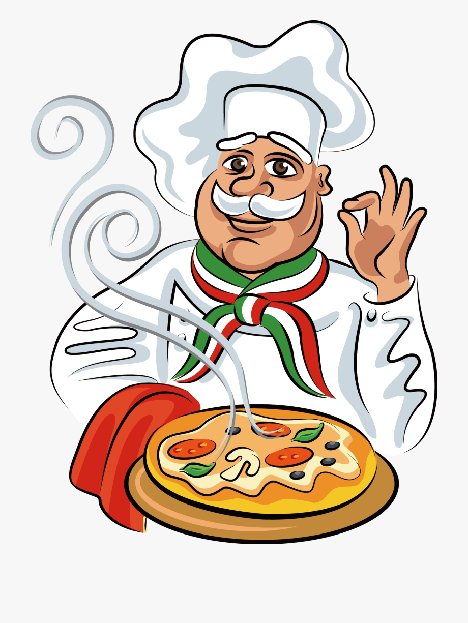 Cook food cartoon cliparts. Cooking clipart chef italian