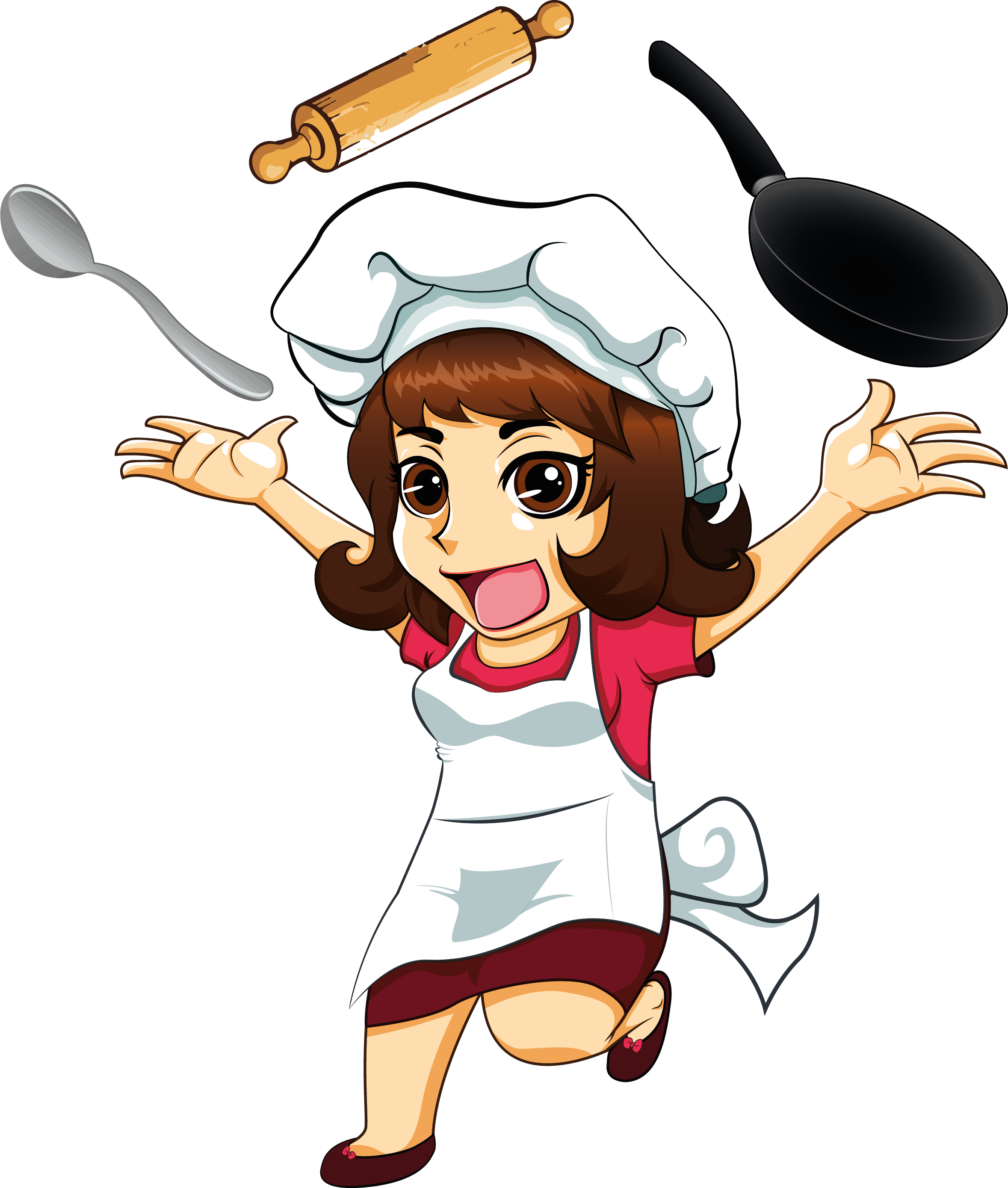 Images of lady png. Hands clipart chef