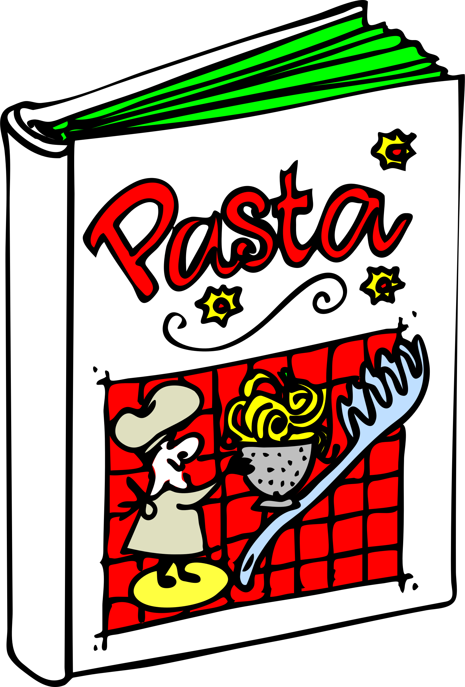 Cookbook clipart cooking book. Pasta big image png