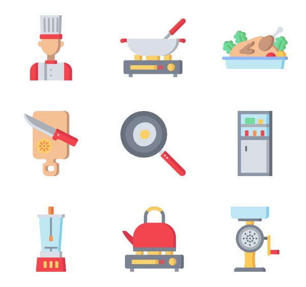 Cook clipart cooking instruction. Time icons free vector
