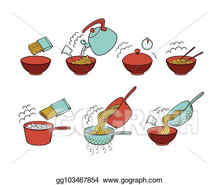 Noodles clipart illustration. Vector stock instant noodle