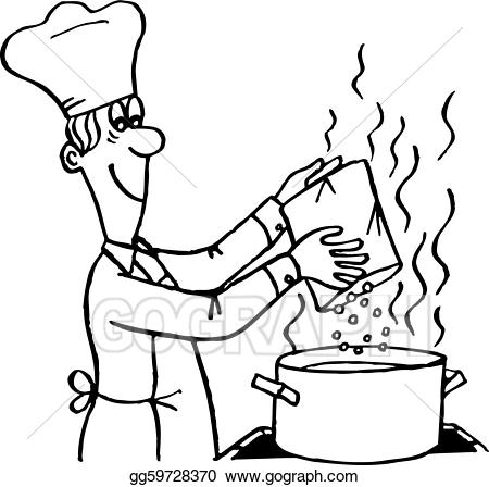 Eps vector process stock. Cook clipart cooking method