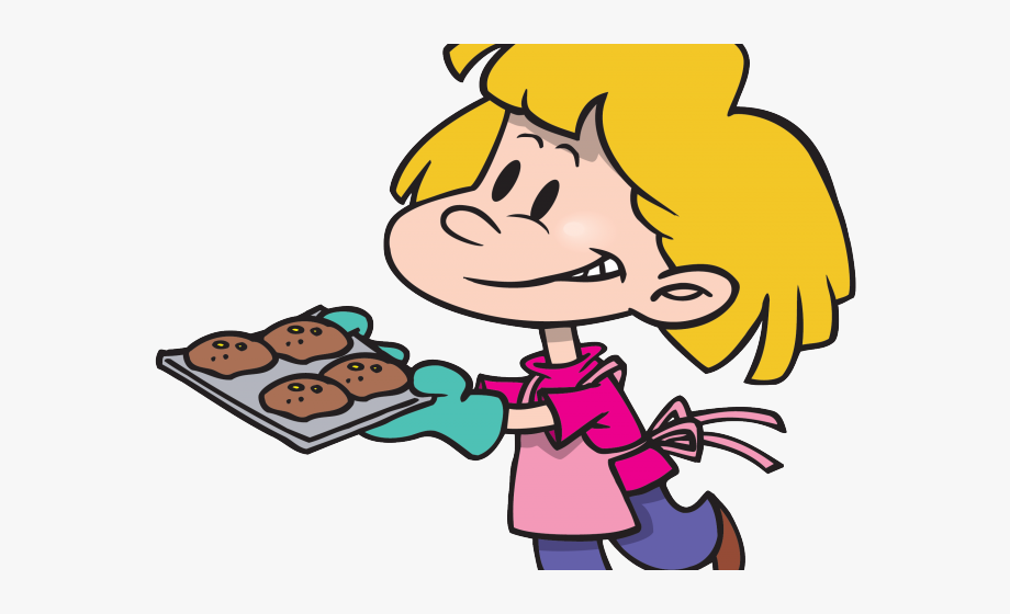 Mexican mom baking cookies. Cookie clipart cooking