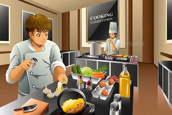 Chef in cooking fonts. Cook clipart food competition