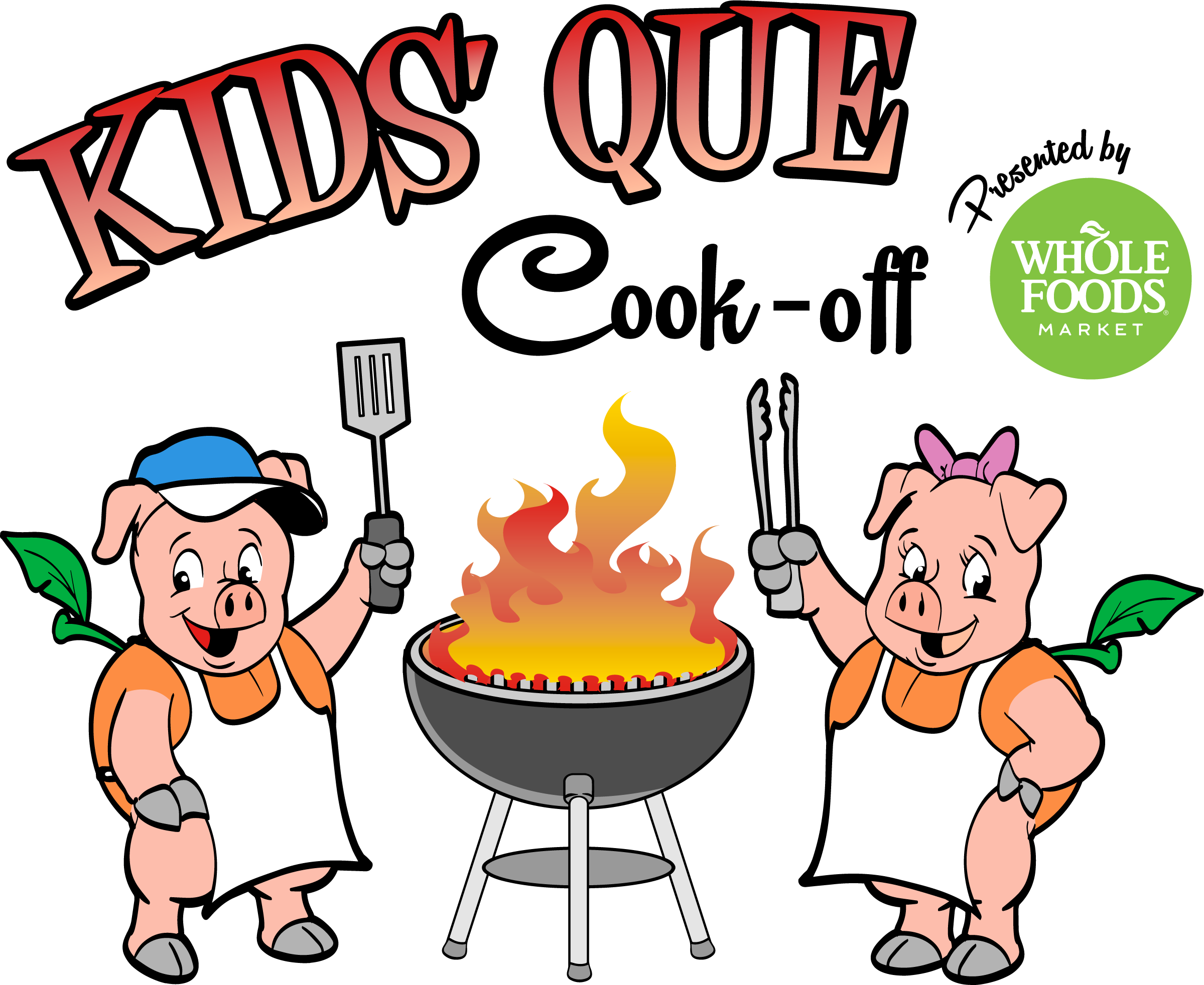 Cook clipart food competition.  pigs peaches bbq
