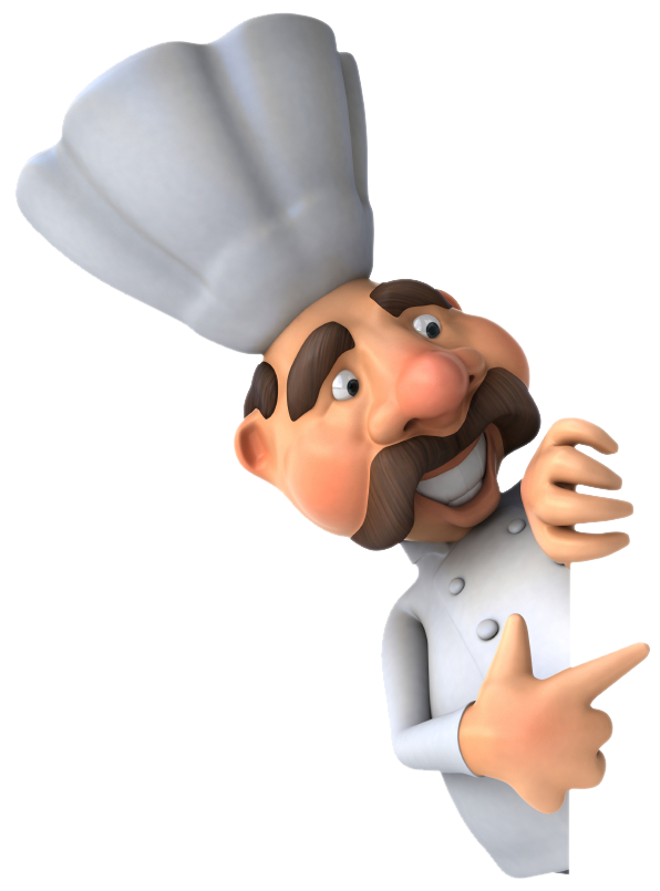 Male chef png image. Professional clipart animated