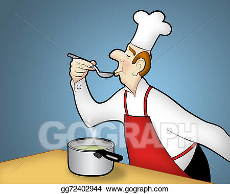 Cooking clipart food tasting. Clip art chef stock