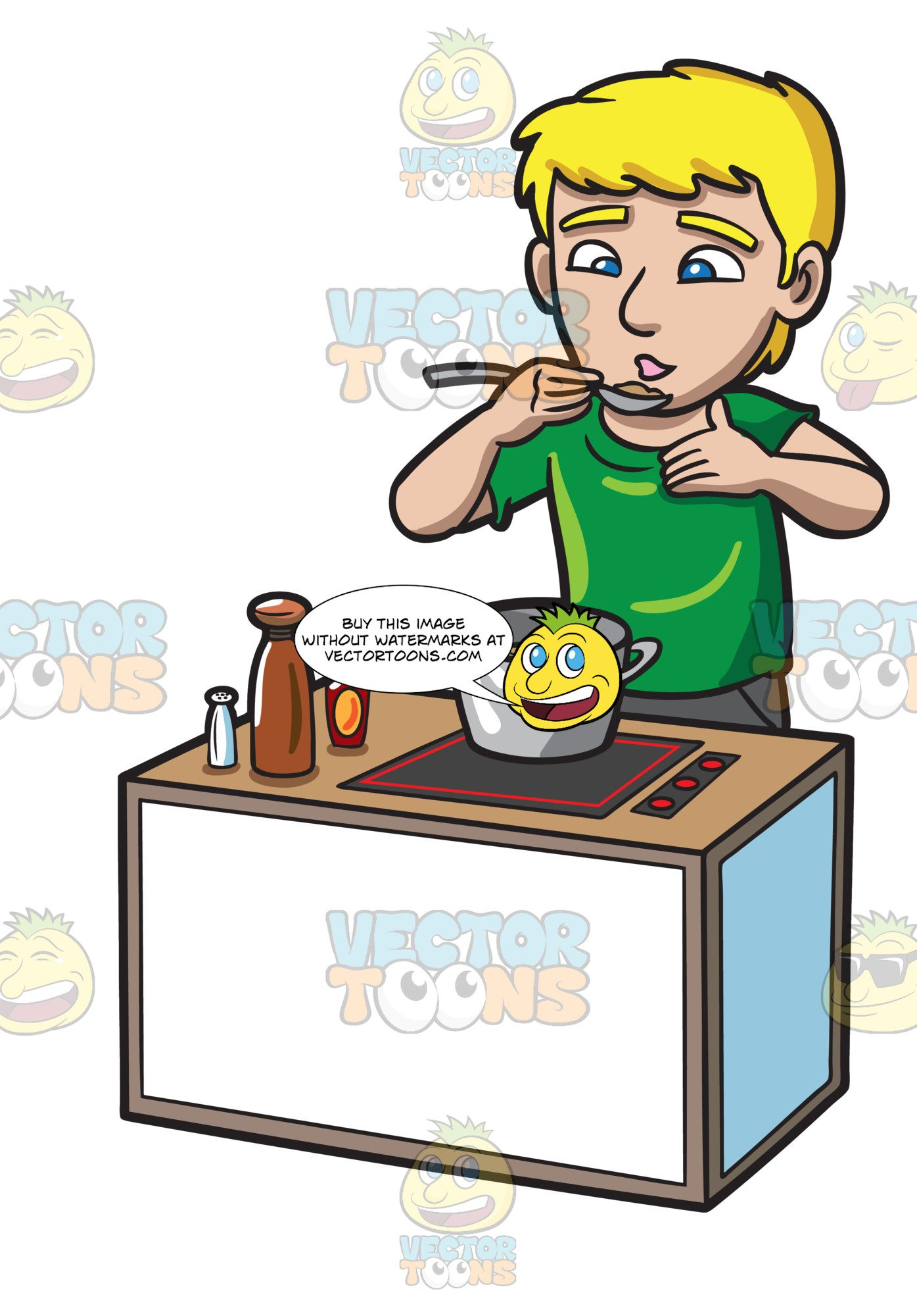 A man the that. Cooking clipart food tasting