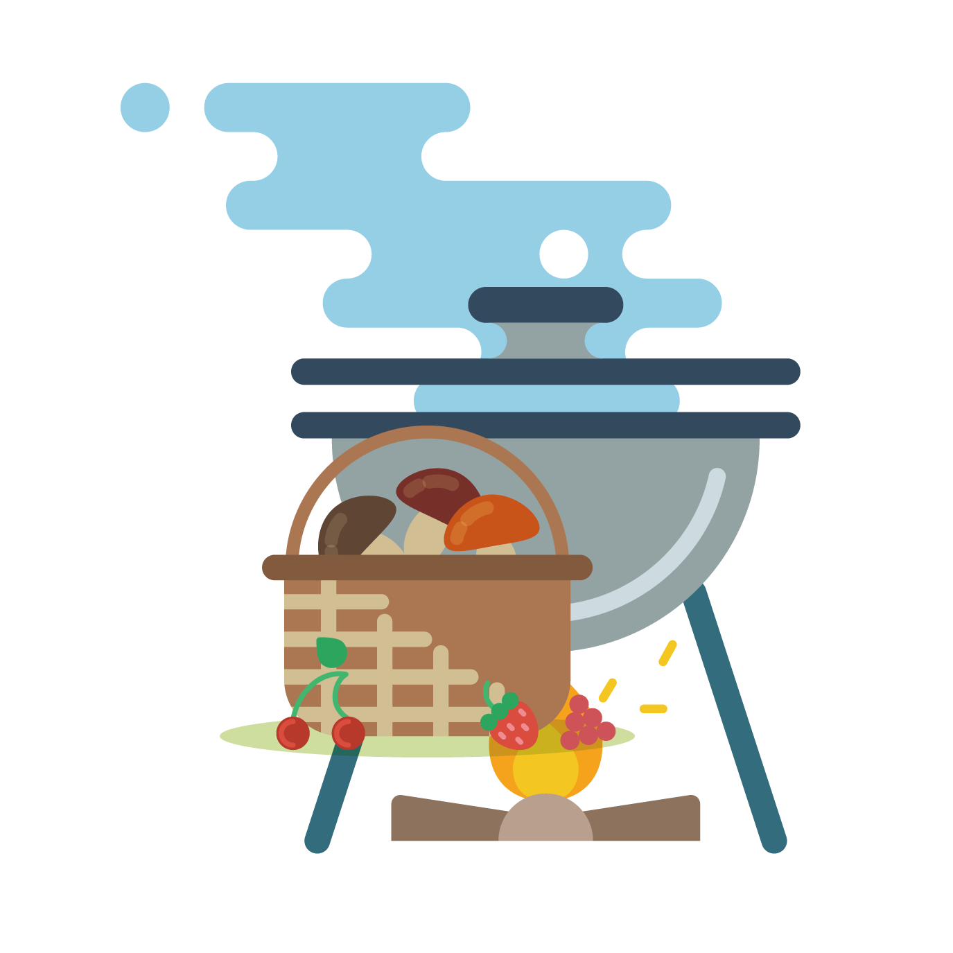 Camping barbecue grill clip. Grilling clipart grillclip