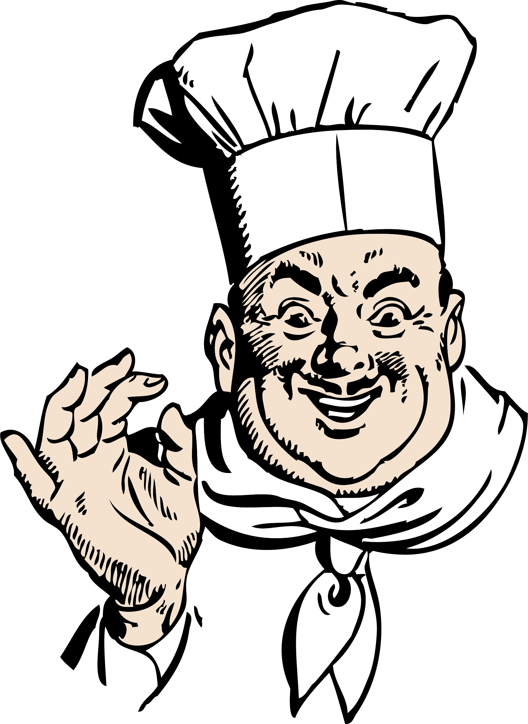 Italy clipart pleased. Happy chef big image