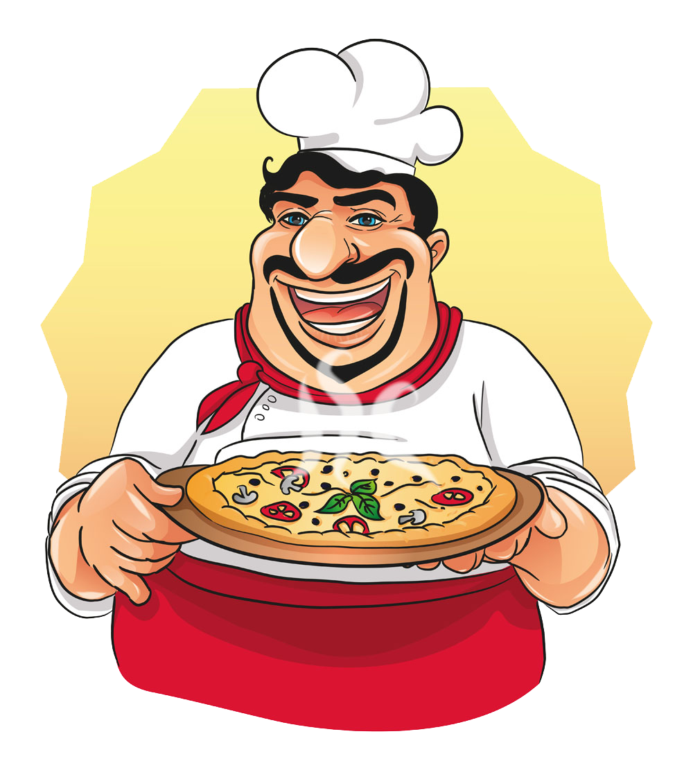 Italy clipart home cooked food. Pizza italian cuisine chef