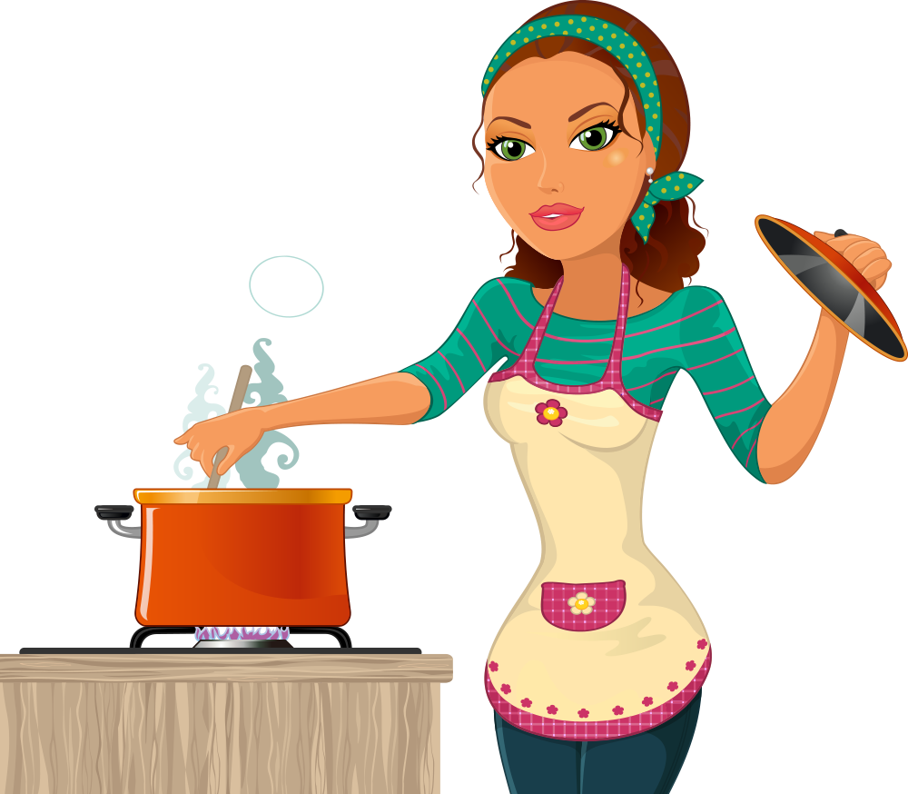 The kitchen chef woman. Cooking clipart cook chinese