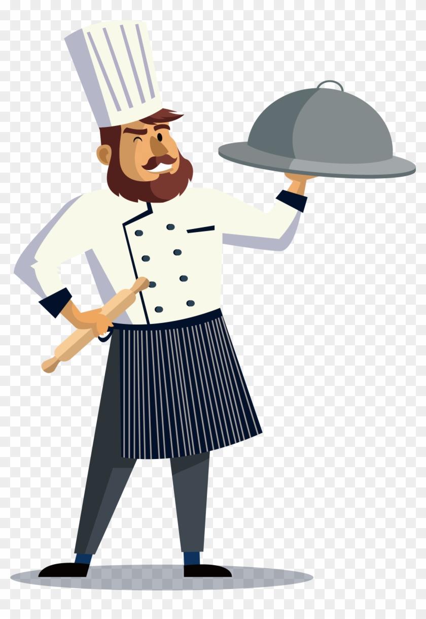 Restaurant chef job hiring. Cook clipart kitchen staff