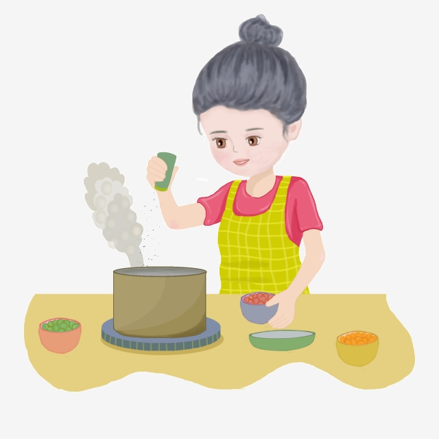 Cooking in the kitchen. Cook clipart mother baking cake