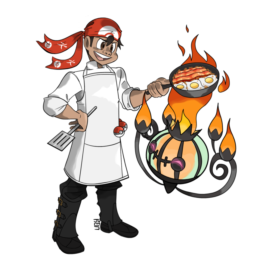 Cooking clipart mr chef. Comm pokemon cook by