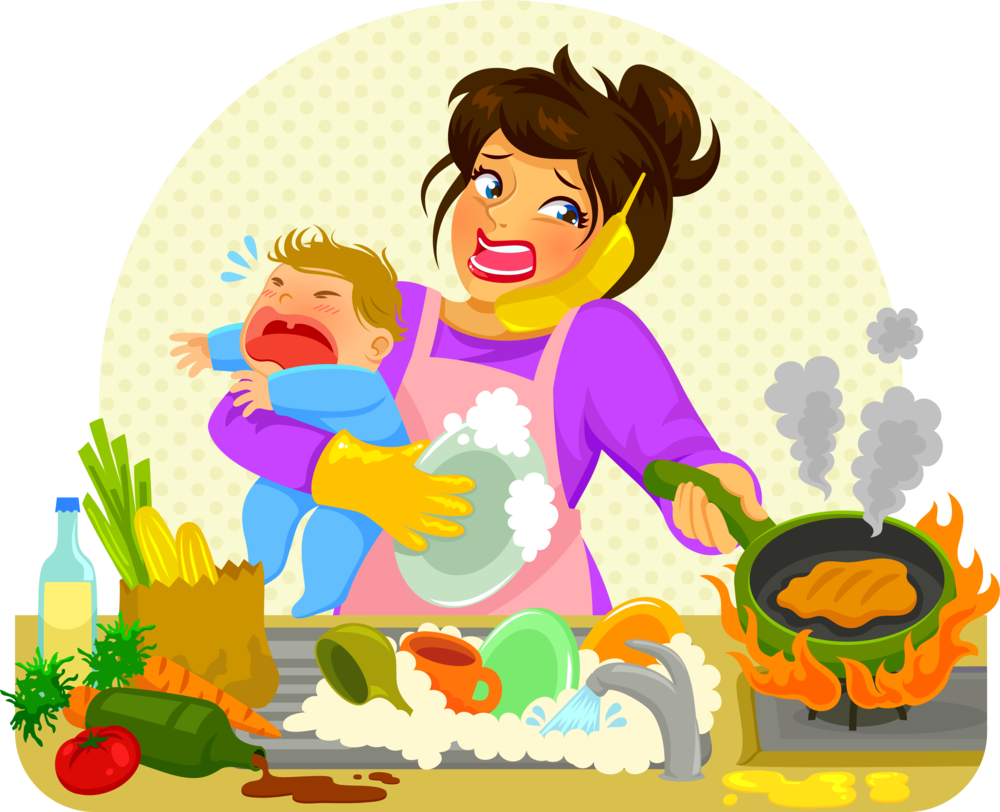Cooking clipart mummy. Ealing frazzled mum