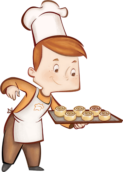 Cook clipart pastry chef. Bakery cafe enfant transprent