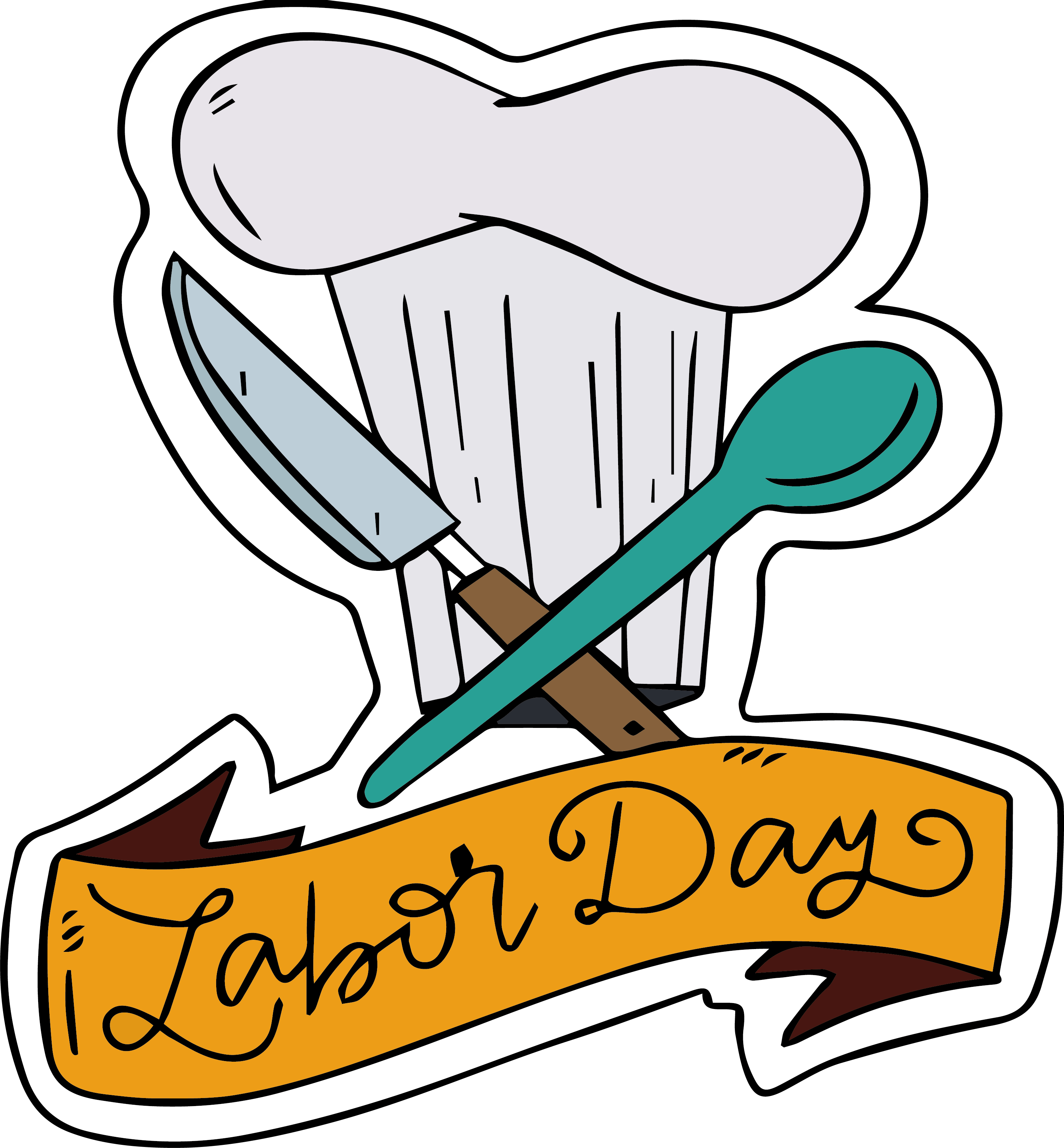 Poster clip art hat. Cook clipart personal chef