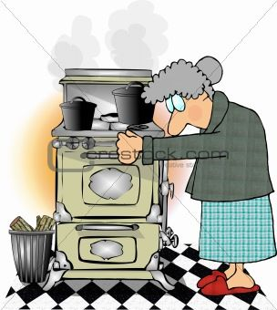 Antique cartoon stoves that. Cook clipart stove cooking