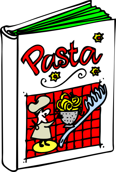Cookbook clipart. Pasta clip art at