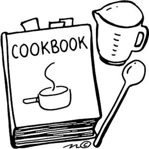 Cookbook clipart. Cover vector labs clip