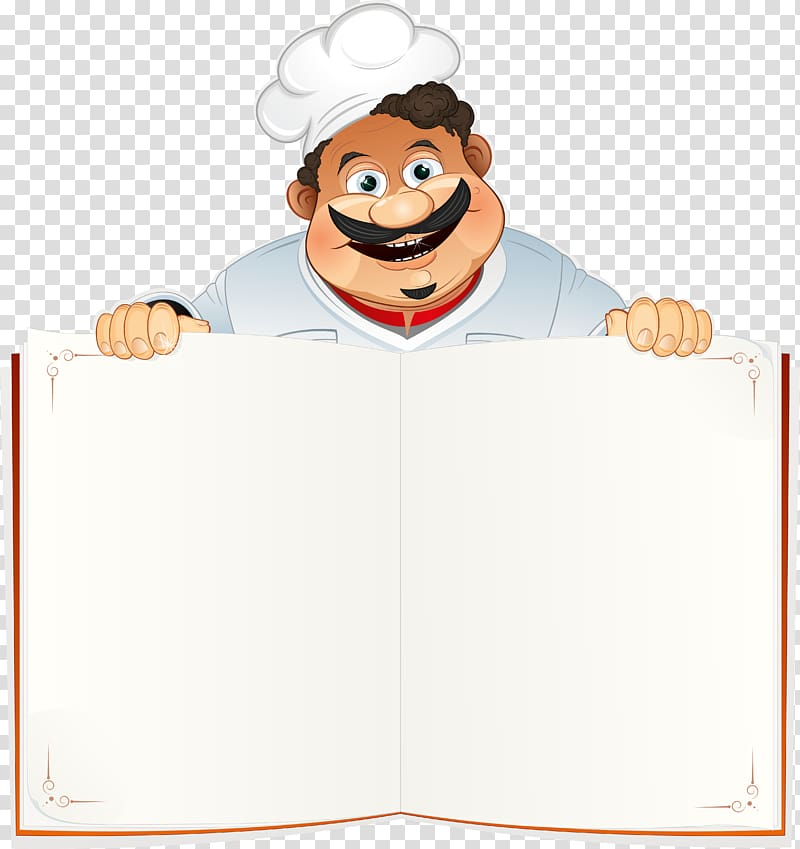 Chef cooking restaurant menu. Cookbook clipart background