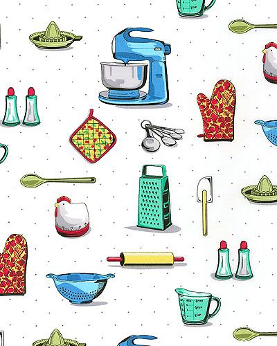Cookbook clipart background. Kitchen ready retro cooking