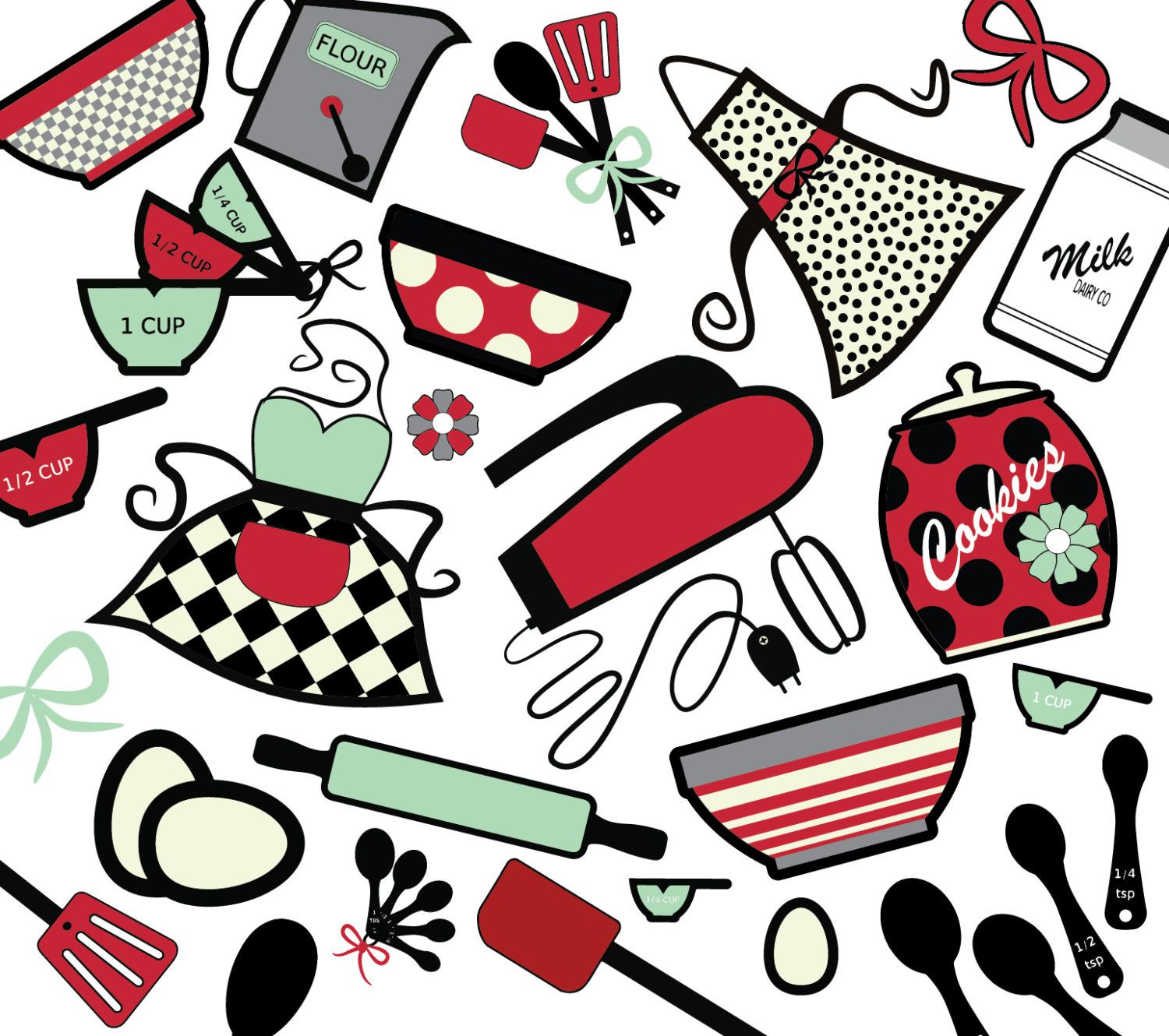 Baking backgrounds fb cover. Cookbook clipart background