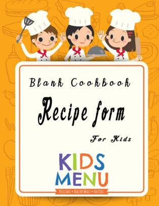 Blank recipe food form. Cookbook clipart cap