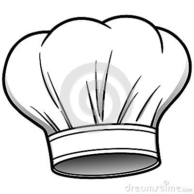 Icons stock vector image. Cookbook clipart chef hat