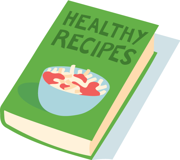 Green grass background cooking. Health clipart health book