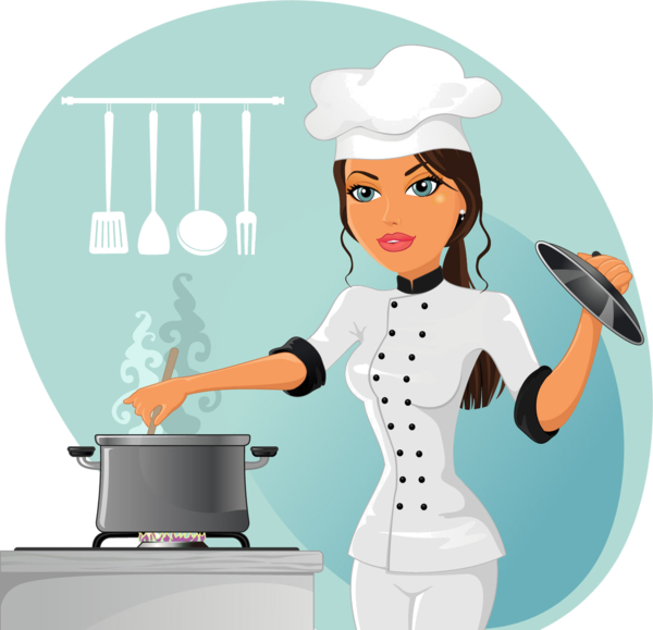 Chef quenalbertini fat chefs. Maid clipart cooking