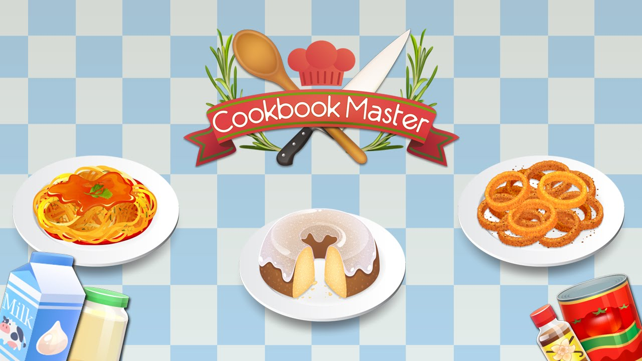 Master recipes and game. Cookbook clipart cooking show