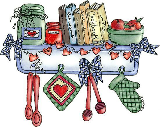 Pin by maryann simmons. Cookbook clipart country kitchen