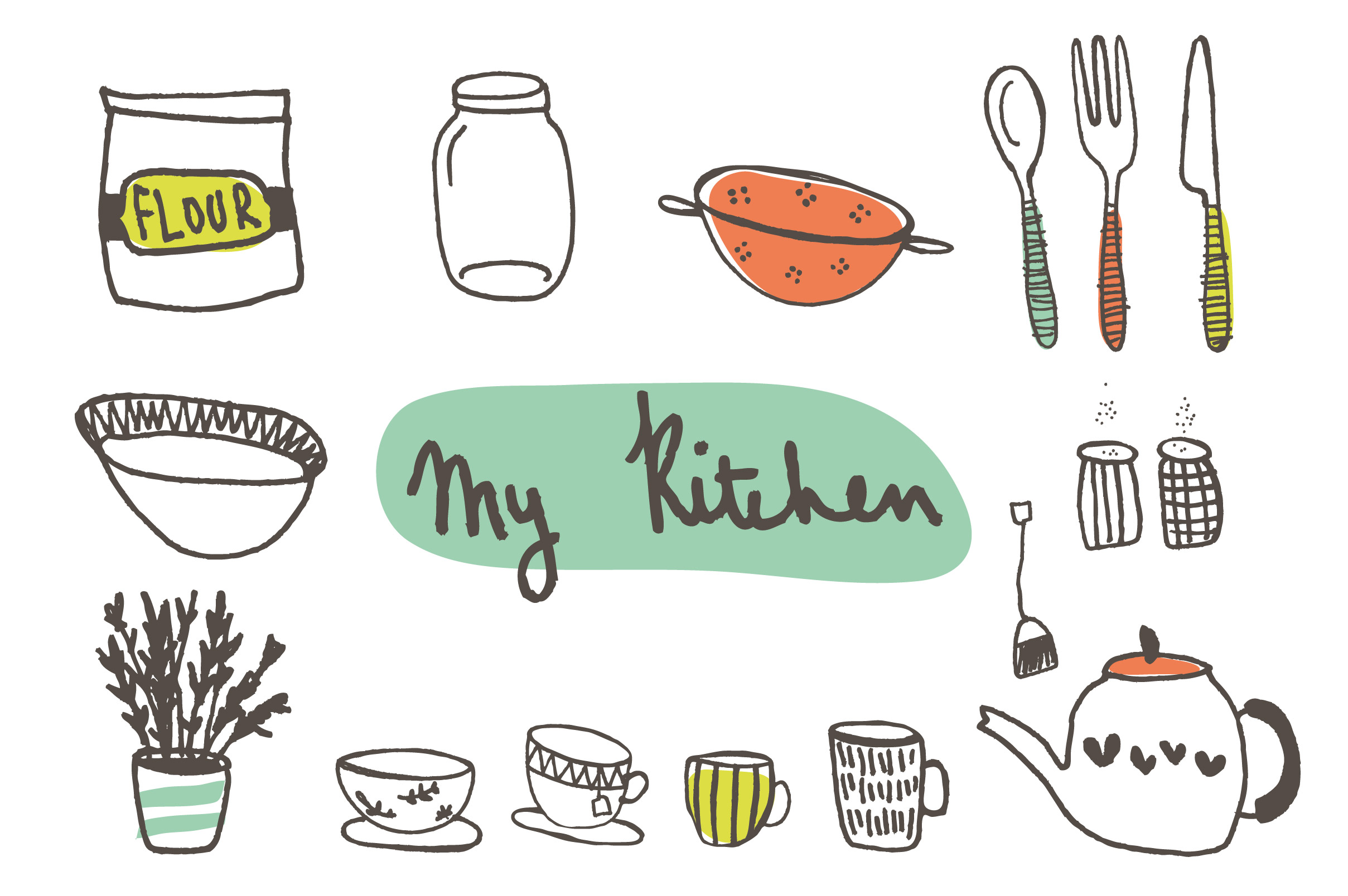 Free retro cliparts download. Cookbook clipart cute kitchen