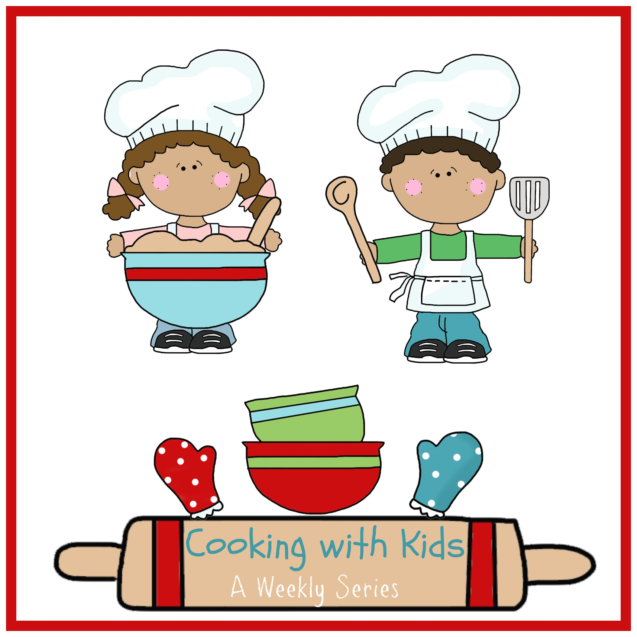 Cooking with how a. Cookbook clipart kids