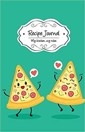 Cookbook clipart kitchen rules. Recipe journal pizzas blank