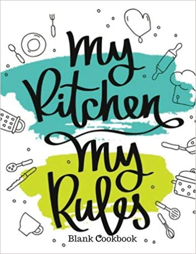 My blank recipe book. Cookbook clipart kitchen rules