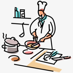 Cookbook clipart line cook. Free cooking in the