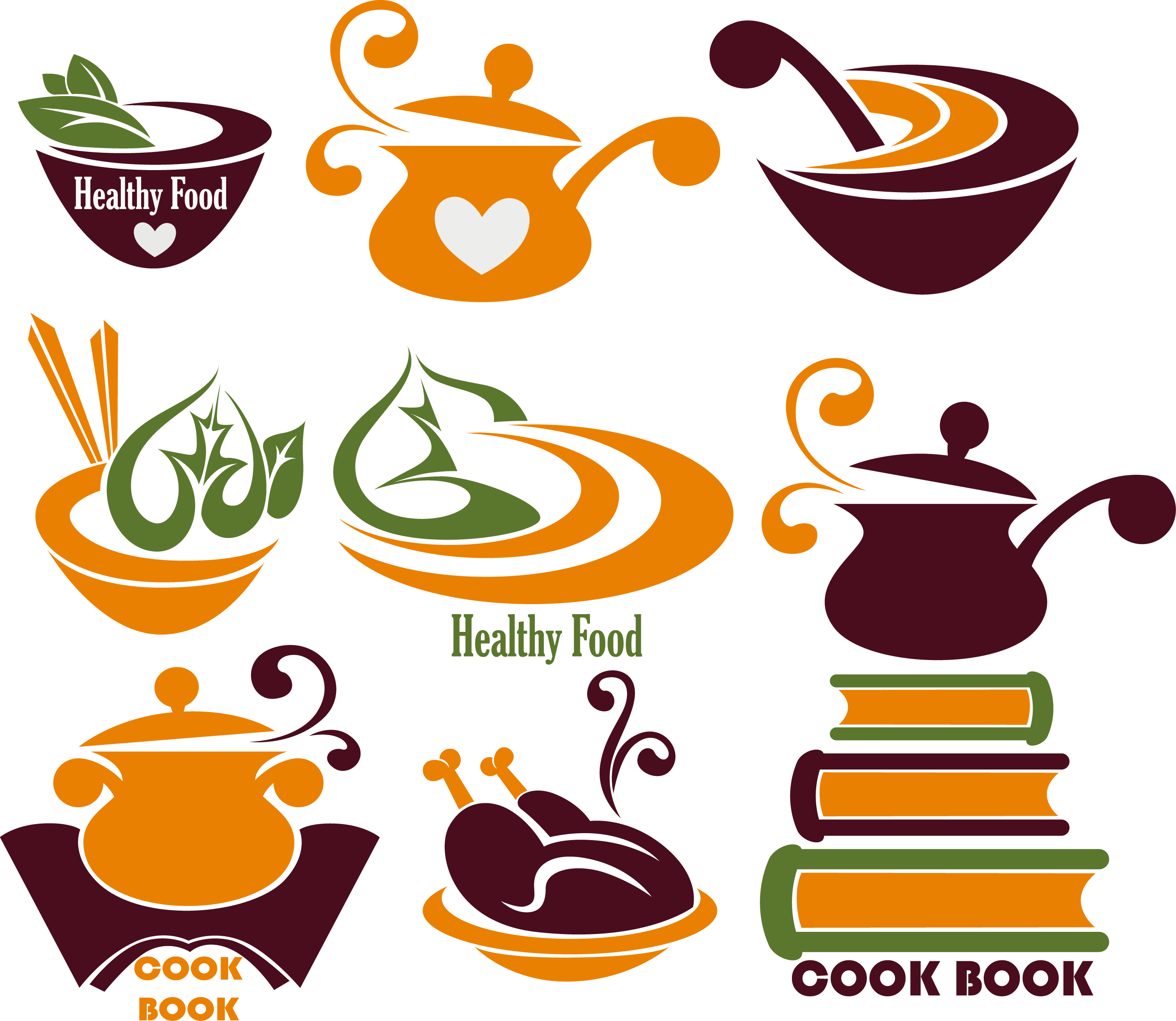 Barbecue chef floating healthy. Cooking clipart covered food